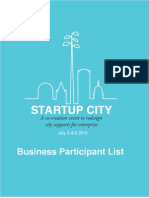 Startup City Business Particpant Bios