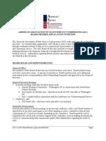 2013-14 ASC Board Member Application Materials FINAL - Supplemental Round