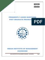 IIMK FAQ