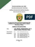 Medios Probatorios en El Nuevo Codigo Procesal Penal