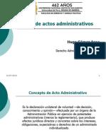 01. Clase 06, Clases de Acto Administrativo