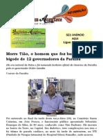 Morre Tião, o homem que fez barba, cabelo e bigode de 12 governadores da Paraíba
