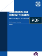 Commissioning and Community Sourcing