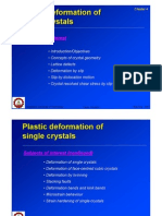 Plastic Deformation of metals