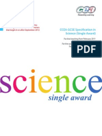 GCSE SCI Single Award REVISED Specification 6571 1