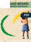50 perguntas e respostas sobre trabalho infantil, proteção ao trabalho decente do adolescente e aprendizagem
