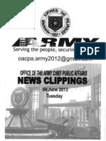 30 Jul 13 Newsclippings