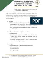 Edital Nº 382013 Seleção de Monitores NCL