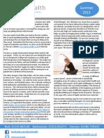 Dixon Health Newsletter, Summer 2013