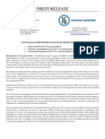 Suffolk Bancorp 2013 Q2 Earnings Report