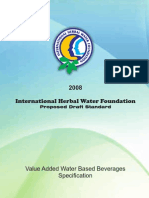 Proposal and Draft Standard Flavored Standard Water From IHWF