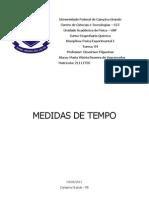 Relatório 01 - Medidas de Tempo