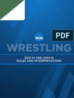 NCAA Wrestling Rules 2013-2014