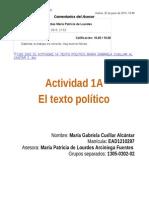 1305 0302 02 Actividad 1a Texto Politico Maria Gabriela Cuellar Alcantar 2