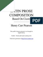 Latin Prose Composition Based on Cicero