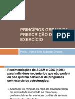 PRINCÍPIOS GERAIS DA PRESCRIÇÃO DO EXERCÍCIO