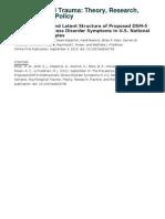 Miller 2012 Prevalencia y Estructura Factorial Del Ptsd Dsm5