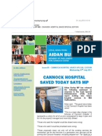 News Bulletin from Aidan Burley MP #68 - CANNOCK HOSPITAL SAVED SPECIAL EDITION