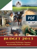 Guyana Budget Speech 2013