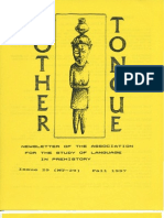 Mother Tongue Newsletter 29 (Fall 1997)