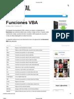 Funciones VBA