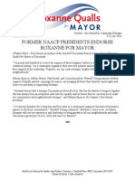 Release FORMER NAACP PRESIDENTS ENDORSE ROXANNE FOR MAYOR