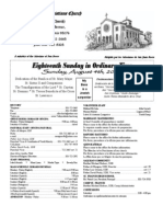 Parish Bulletin for August 4, 2013
