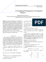 A Fast Algorithm for Computing Pseudospectra of Companion