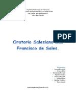 El Oratorio Salesiano San Francisco de Sales
