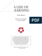 A Life of Learning by Peter Brown
