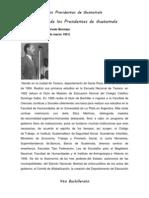 Historia de Los Presidentes de Guatemala