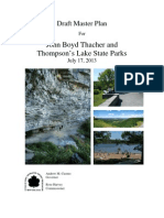 Draft Master Plan for John Boyd Thacher and Thompson's Lake State Parks