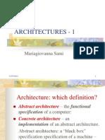 Architectures - 1