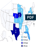 Cyclosporiasis cases notified to CDC, by state