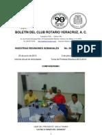 Boletín Rotario del 25 de junio de 2013