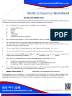 Medical Expense Worksheet