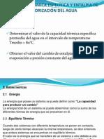 CAPACIDAD TÉRMICA ESPECÍFICA Y ENTALPIA DE