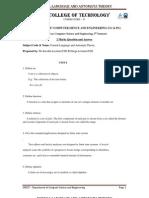 Formal Language & Automata Theory