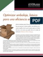 Optimizar embalaje, básico para una eficiencia en costos