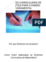 Diretrizes Curriculares de Matematica Para o Ensino Fundamental