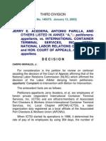 Acedera vs. ICTSI
