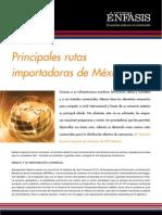 Principales rutas importadoras de México