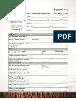 CV Womens Camp Registration Form