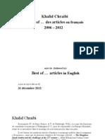 Khalid Chraibi Best of Articles Choisis a Jour Au 31 Decembre 2012