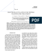 Electroflocculation for Textile Wastewater Treatment