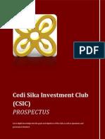 Cedi Sika Investment Club Prospectus
