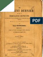 Em-Swedenborg-1-DU-JUGEMENT-DERNIER-ET-DE-LA-BABYLONIE-DETRUITE-2-CONTINUATION-Le Boys Des Guays-1861-et-1860