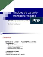 Clase Equipos de Carguio Transporte Vaciado