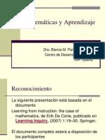 Matemticas y Aprendizaje