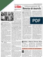 Resena de Memorias del Desarrollo en Granma por Rolando Perez Betancourt